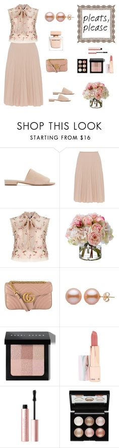 """""""Pleated Passion for Neutrals (contest)"""" by scolab ❤ liked on Polyvore featuring Mansur Gavriel, Piazza Sempione, Needle & Thread, Diane James, Gucci, Bobbi Brown Cosmetics, LAQA & Co., Too Faced Cosmetics and Witchery"""