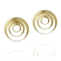 Brinco Perpendicular Triplo Antonio Bernardo, Silver Earrings, Hoop Earrings, Gold Fashion, Modern Jewelry, Gold Jewellery, Handmade Silver, Personal Style, Cool Designs