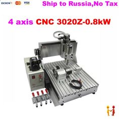 1290.00$ Buy here - alij50.worldwells... - (Russain no tax!) 4 Axis metal Milling Machine CNC 2030 CNC Wood Carving Mini Engraving Machine Mill Engraver   800W spindle