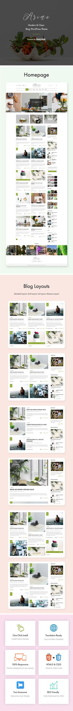 Arimo - Modern & Clean Blog WordPress - ThemeXoda