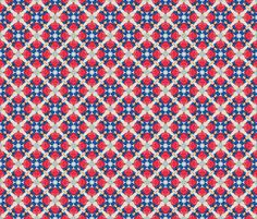 Kaleidoscope of Super Pig skating 2 fabric by edithschmidt on Spoonflower - custom fabric Pattern Images, Pattern Design, Skating, Custom Fabric, Spoonflower, Red And White, Craft Projects, Fabrics, Colorful