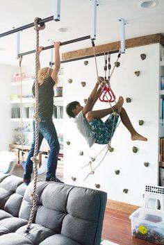 Home gym interior climbing wall 48 Ideas