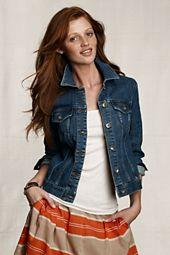 Denim Jacket with white t/skirt