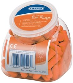 Draper 12213 Ear Plugs with Dispenser (Pack of 50)