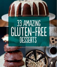 33 Amazing Gluten-Free Desserts! Check out http://www.absolutelygf.com for more great recipes! #Absolutelygf #Glutenfree #Recipes #glutenfree #recipes #healthy #recipe #gluten