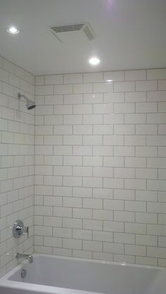 Subway tile for Jack and Jill and onsuite tub shower combo - www.insterior.com