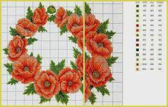 """Милые сердцу штучки: Вышивка крестом: """"Маки. Обзор дизайнов и схем"""""""