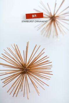 #DIY Starburst Christmas Ornaments