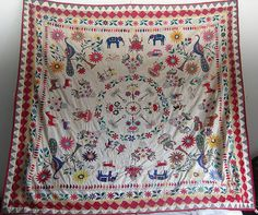 Gujarat kantha quilt circa 1920s or 1930s.  Totally charming. http://www.inbangladesh.it/blog/nakshi-kantha/