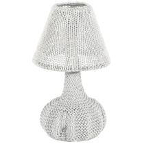 Knitted Table Lamp White, by Lodsh ! Grey Table Lamps, Lamp Shades, Tech Accessories, Interior Decorating, Lighting, Design, Home Decor, Favorite Things, Knitting