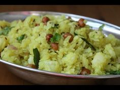 Aval upma with potato I Vegetable poha upma l Aloo poha recipe l Batata poha - YouTube