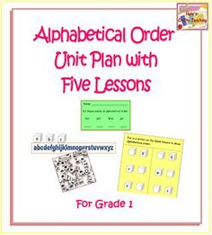 Alphabetical Order Unit Plan!