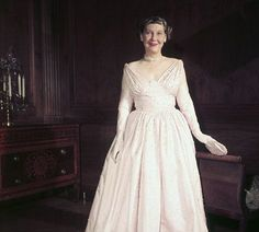 Mamie Eisenhower: She and husband Dwight entertained unprecedented numbers of heads of state at the White House. She loved pretty dresses and jewelery and her inaugural gown is on display at the Smithsonian Museum