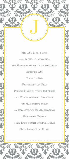 More Graduation Announcements! High school, Students and School