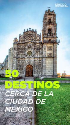 50 destinos cercanos  a la CDMX Travel Advise, Travel Info, Travel Guides, Places To Travel, Places To Visit, Visit Mexico, Mexico City, Mexico Trips, Best Resorts