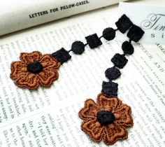 lace earrings DONNA black sienna by tinaevarenee on Etsy, $24.00