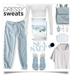 """Sweatpants"" by judysingley-polyvore ❤ liked on Polyvore featuring Aéropostale, Chloé, Catherine & Jean, Clé de Peau Beauté and sweatpants"