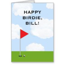 personalized golf birthday card