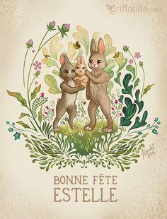 Bonne fete Estelle by joanniegoulet.deviantart.com on @DeviantArt