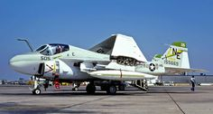 "A-6A Intruder of VA-145 ""Swordsmen"" at NAS Miramar in August 1975. (photo by Akira Watanabe)"