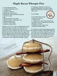 What is Sherry Gore's recipe for maple bacon whoopie pies?