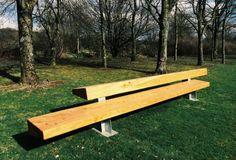 Blueton street furniture - Timber Seating #landscape architecture, #street furniture, #seating, #site furnishings