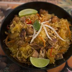 Spaghetti Squash Pad Thai Recipe sides dairy free low carb sugar free memorial day dinner asian thai with 14 ingredients Recommended by 2 users. Detox Recipes, Paleo Recipes, Whole Food Recipes, Dinner Recipes, Cooking Recipes, Paleo Meals, Potato Recipes, Vegetable Recipes, Free Recipes
