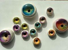 FREE TUTORIAL by Deanne Crim at Sugarplum Village: Faux Glass Eyes: Polymer Clay