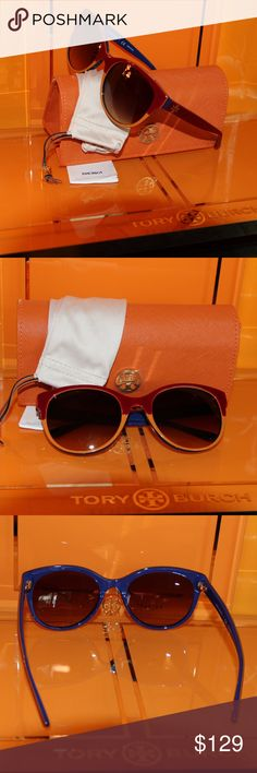 NWT Tory Burch TY7095 Multi Very Cool Sunnies NWT Tory Burch TY7095 Multi Very Cool Sunnies    Time for some new fabulous authentic designer shades!! Frame: Burgundy/Orange/Navy  Lens: Brown Gradient  ty7095 1599/13 These are PERFECT Flawless NEVER even worn or tried on. It's just reflections that might make they look like there are issues, they are again Perfect! Comes with original bag with tags from Luxottica, case and dust bag. All of my items are Guaranteed 100% Genuine I do not sell…