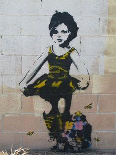 Pink Wine In Teacups! #street art #grafitti