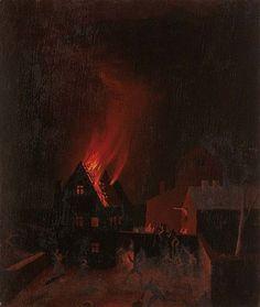 Franz Sedlacek - Blaze, 1926 oil/wood 43 x 36,5 cm