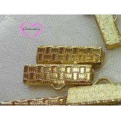 20 Quality Brass Ribbon Ends