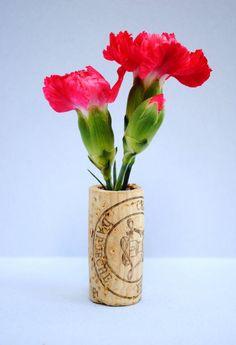 Teeny tiny cork vases