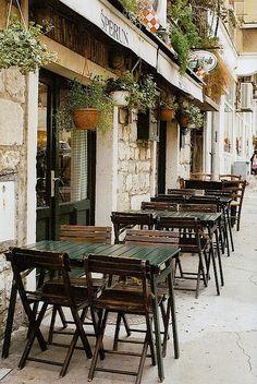 | ♕ | Street cafe in Split, Croatia | by © Petrana Sekula