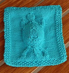 Free Knitting Pattern for Easy Giddy-up Washcloth - A unique 3 dimensional turtl. : Free Knitting Pattern for Easy Giddy-up Washcloth – A unique 3 dimensional turtle. Row by row instructions. Pictured project by calanau Knitted Washcloth Patterns, Knitted Washcloths, Dishcloth Knitting Patterns, Crochet Basket Pattern, Crochet Dishcloths, Knitting Stitches, Free Knitting, Crochet Patterns, Easy Patterns