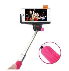 ZTHY Ultra Light Selfportrait Wireless Bluetooth Extended Camera Shooting Shutter Selfie Handheld Stick Pole specially designed for Iphone 6 Iphone 6 Plus 5s 5c 5 4s 4 Samsung Galaxy Mobile Cell Phone * Read more reviews of the product by visiting the link on the image.