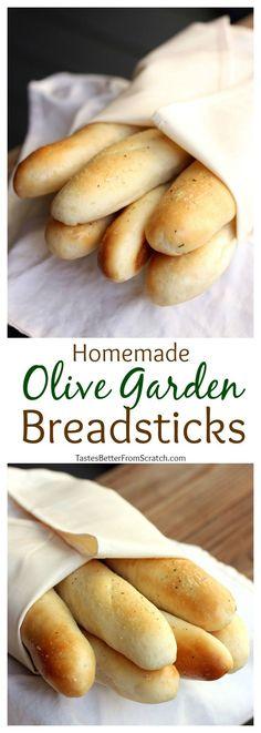 Copycat Olive Garden Breadsticks that tastes just as good as the restaurants! Recipe on TastesBetterFromScratch.com