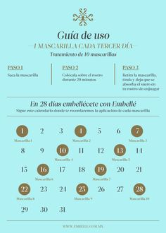 Calendario de Uso – Embellé