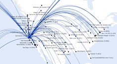 san francisco daily airline flights map - Google Search
