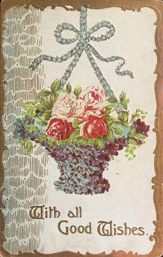 Lovely Flower Basket by Yesterdays-Paper.deviantart.com on @DeviantArt