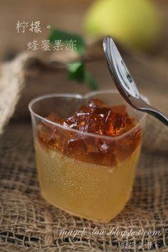厨苑食谱: 柠檬蜂蜜果冻 (Honey Lemon Jelly)