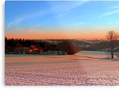 Colorful winter wonderland sundown III | landscape photography by Patrick Jobst. Fine wall art metal print, available in different sizes (from extra small to extra large) and Gloss or Matte finish. #metalprint #wallart