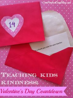 A fun and simple way to teach kids about kindness. 14 simple acts of kindness that kids can do and a fun way to countdown to Valentine's Day.