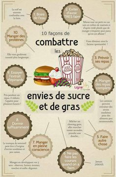 Sugar-free diet: everything you need to Régime sans sucre : tout ce que vous devez savoir 10 ways to fight cravings for sugar and fat. Proper Nutrition, Diet And Nutrition, Health And Nutrition, Health Fitness, Holistic Nutrition, Nutrition Guide, Complete Nutrition, Health Tips, Nutrition Activities