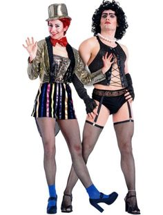 columbia and dr frank n furter rocky horror picture show couples costumes halloween city