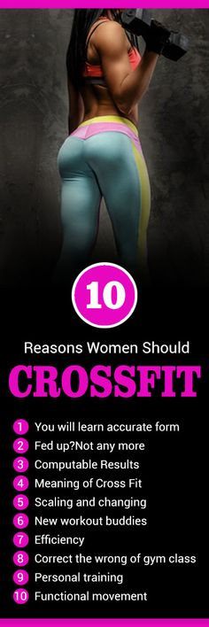 Cross Fit is concentrated; it is not easy but full of fun. There are 10 reasons women should Cross Fit is not just for meat heads and body builders. #crossfit #fitness #workout_plans #exercise