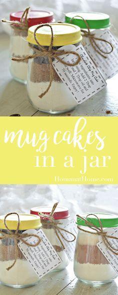 Chocolate Mug Cake Mix Mug Cakes in a Jar Mason Jars, Mason Jar Meals, Mason Jar Gifts, Meals In A Jar, Cake Mix In A Jar Recipe, Cake In A Jar, Dessert In A Jar, Cookies In A Jar, Pots
