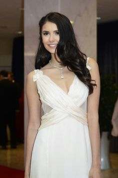 Welcome to Nina-Dobrev-Daily! The fansite for The Vampire Diaries actress, Nina Dobrev. Nina Dobrev Hair, White House Correspondents Dinner, V Neck Prom Dresses, Wedding Dresses, Chiffon, Long Wavy Hair, Long Curls, Wedding Looks, Dream Wedding
