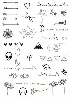 schule symbole Cute little doodle drawing ideas for bullet journal Tiny Tattoos For Girls, Cute Tiny Tattoos, Cool Small Tattoos, Pretty Tattoos, Easy Tattoos To Draw, Fake Tattoos, Mini Tattoos, Finger Tattoos, Tatoos