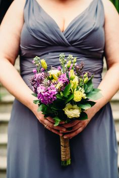 Purple Green Bridesmaid Bouquet Flowers Lavender Warehouse London Wedding http://www.babbphoto.com/